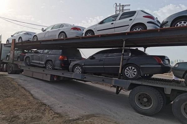 ارسال خودرو به عسلویه با تریلی