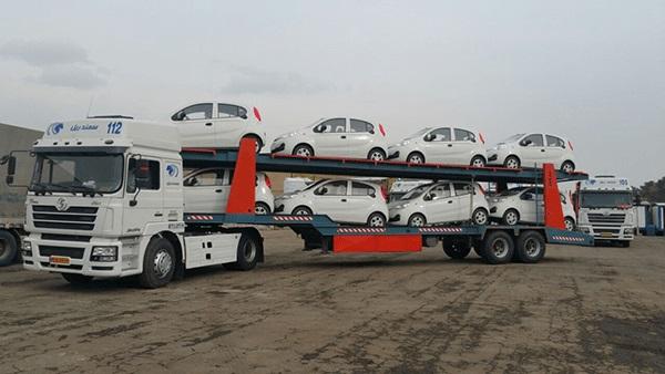 حمل خودرو به سیرجان با تریلی