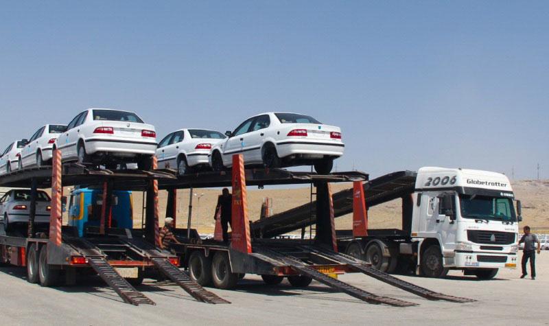 حمل خودرو به تالش با تریلی