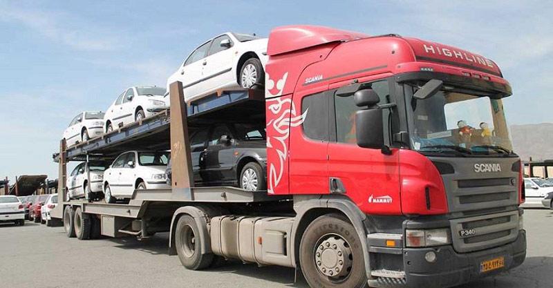 حمل خودرو به لاهیجان با تریلی