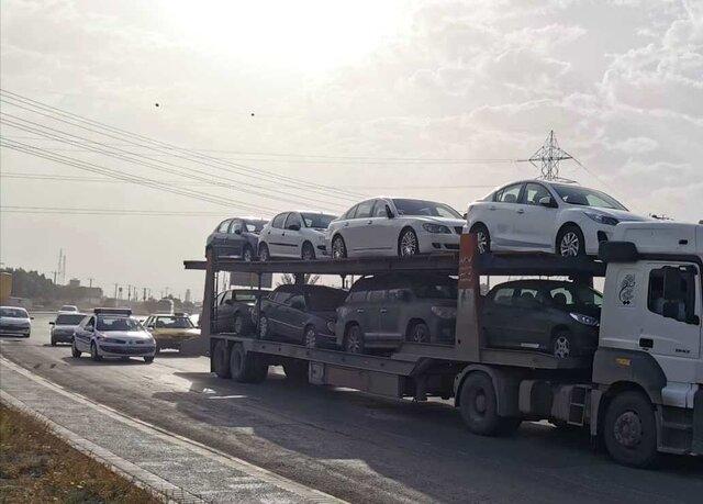 ارسال خودرو به اردکان با تریلی