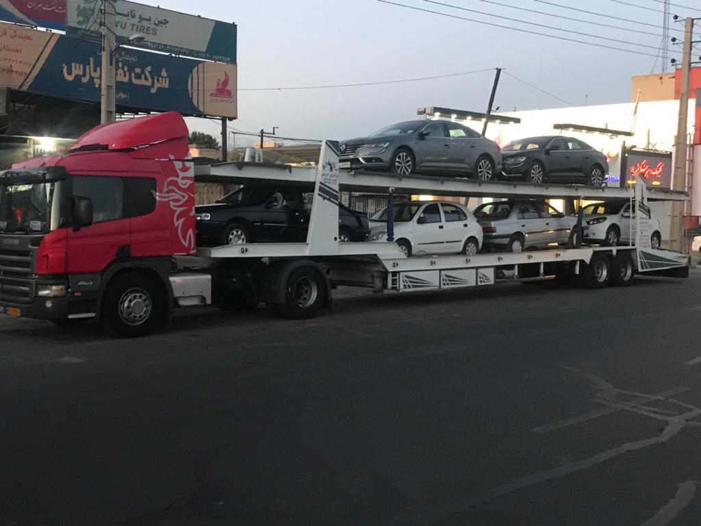 ارسال خودرو به کازرون با تریلی