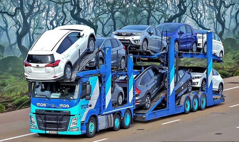 حمل خودرو به آبیک با تریلی